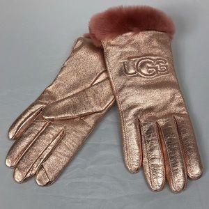 NWT UGG Classic Leather Logo Glove Large